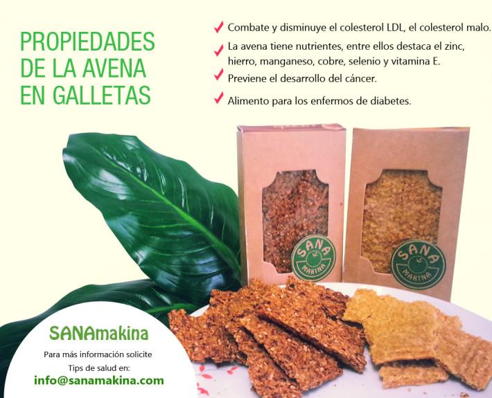 SANAmakina galletas de avena