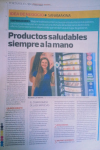 SANAmakina en el diario El Comercio